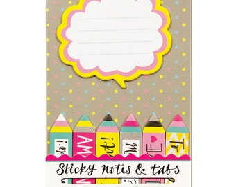 Wordy Arrows Sticky Notes & Tabs