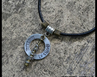 Lucille is Thirsy Necklace - The Walking Dead Negan Inspired - Walkers - Zombies - Zombie Apocalypse - Customized