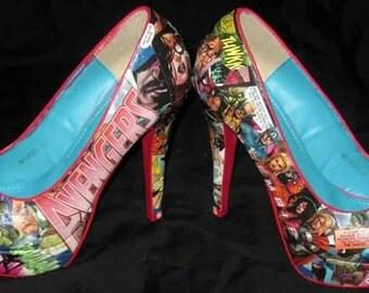 Comic Book Heels - Avengers Heels