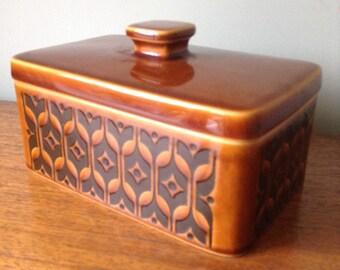 Hornsea 'heirloom' pottery butter dish