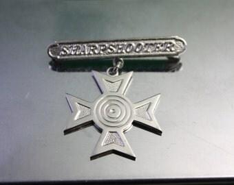 Vintage Sharpshooter Medal
