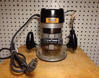 Vintage Sears Craftsman Commercial Router Model 315.17370, 1hp 25000 RPM, DBL Insulated, Ball Bear Made in U.S.A.