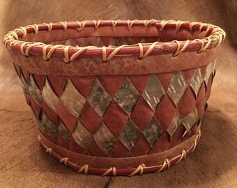 Phenomenal Vintage Large Birch Bark Basket