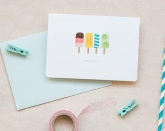 Love / Friendship Card  |  Popsicles