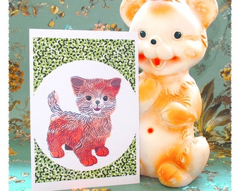 Kiddy Cat birth card