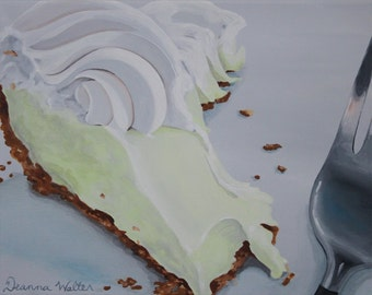 Key Lime Pie Dessert Original Painting