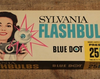 1950s Sylvania Blue Dot Flashbulbs