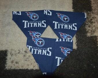 Tennessee Titans pet bandana, collar bandana, pet bandana, dog bandana, cat bandana. pet neckwear, Titans football, Titans fan