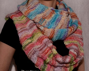 """Loop scarf """"Autumn"""" and """"Lagoon"""" / Trendy Infinity scarfs / Autumn and Winter fashion for women"""