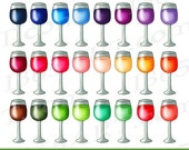 50% OFF SALE Wine Glass C...