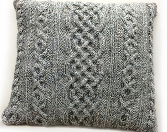 Easy Cabled Cushion Knitting Pattern WM2033