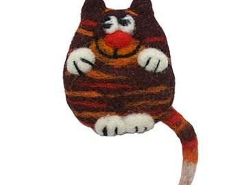 ORANGE CAT PIN