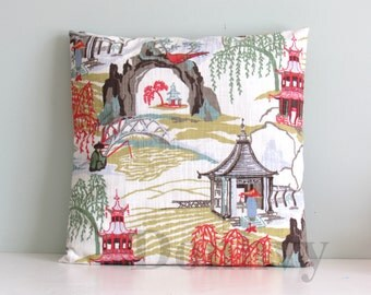 Home Neo Pillow Covers. Square/ Boudoir Chinoiserie Pillow Covers.