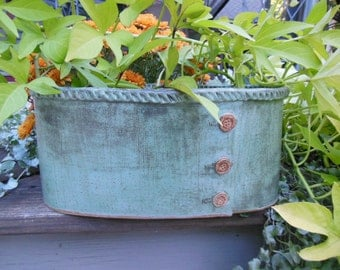 Oval Planter with Buttons
