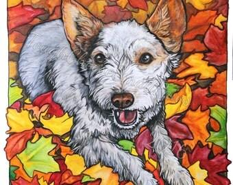 Fall Leaves giclee print