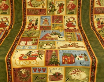 Benartex - Happy Holidays - Nancy Halvorson - Christmas Alphabet - By The Panel