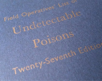 Undetectable Poison - Large Funny Letterpress Journal, Jotter, Cahier, Moleskine - A5 Ruled Notebook