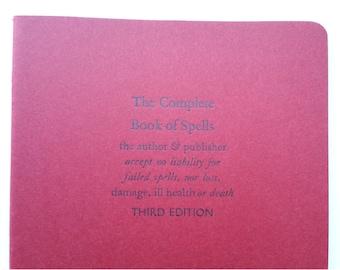 Book of Spells - Large Funny Letterpress Journal, Jotter, Cahier, Moleskine - A5 Ruled Notebook