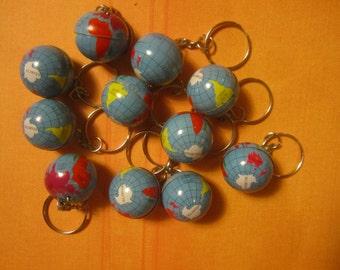 Miniature Globe Key Chain Vintage