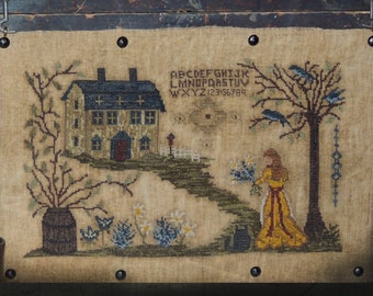 Pattern: She Tends Her Garden Cross Stitch by Kanikis Prims and Whims