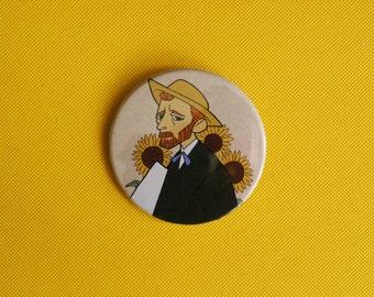van gogh button! (set of 1)