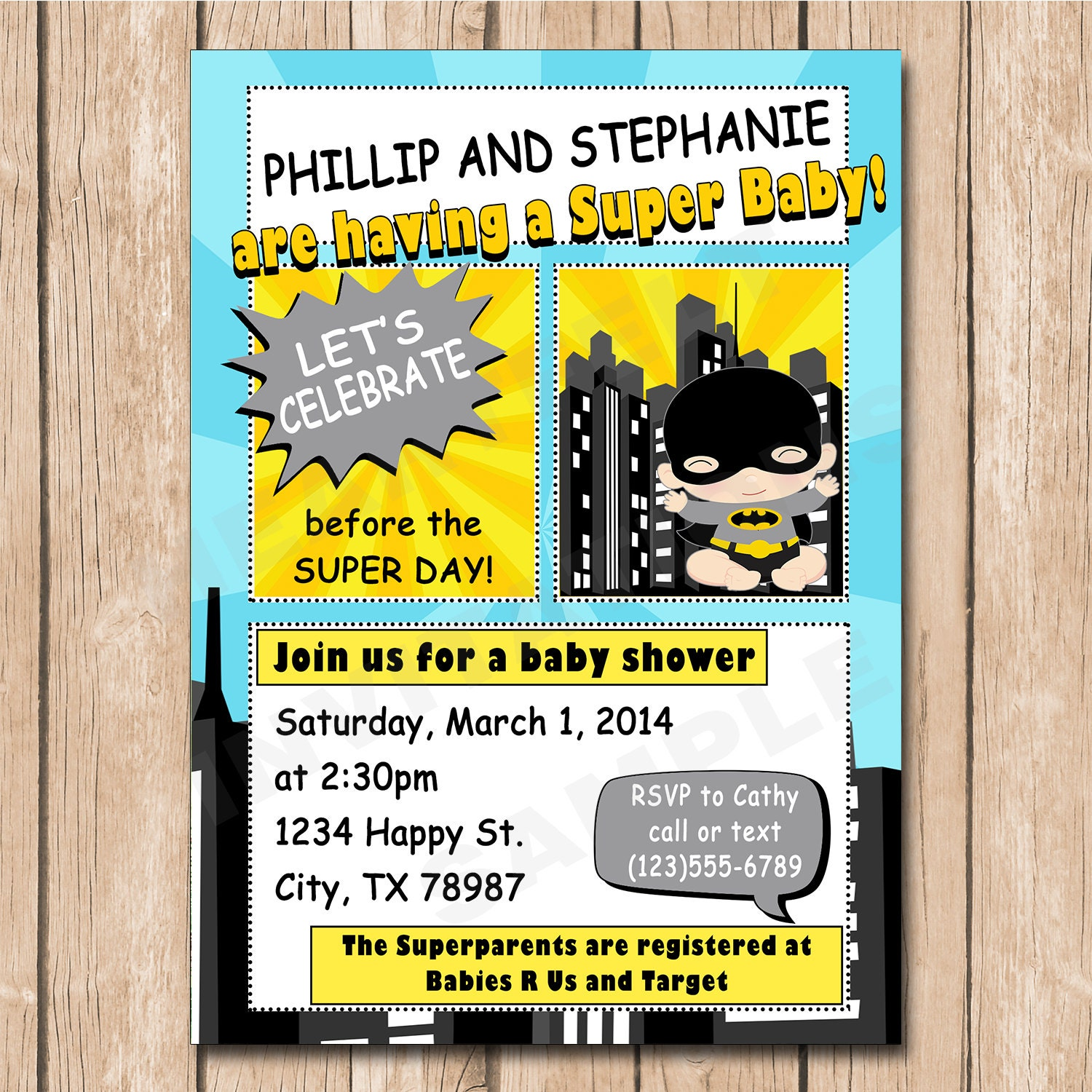 superhero baby shower invitation batman baby robin baby