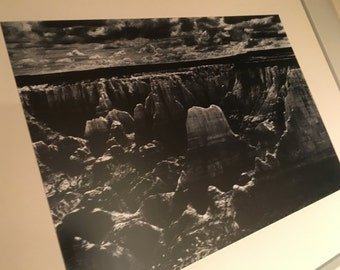 Vintage Framed And Matted Photograph of a Canyon (1963)