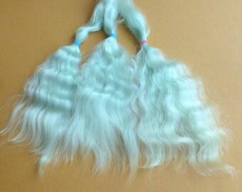 Combed mohair /Doll Hair / Combed mohair for doll hair / Blythe Doll hair