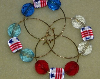 Red White Blue Charms