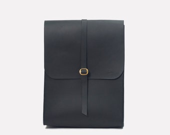 Portrait Satchel Backpack - Black