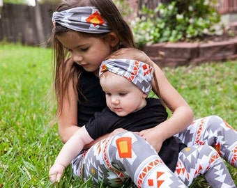 Baby Girl Clothes Baby Leggings Baby Turban Headband Set Leggings Set Fall Girl Clothing Hipster Leggings Toddler Leggings Hair Accessories