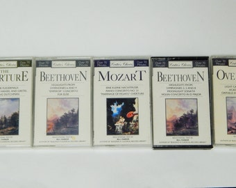 5 Critic's Choice Cassette Tapes Beethoven Mozart The Overture Classical Music 1993