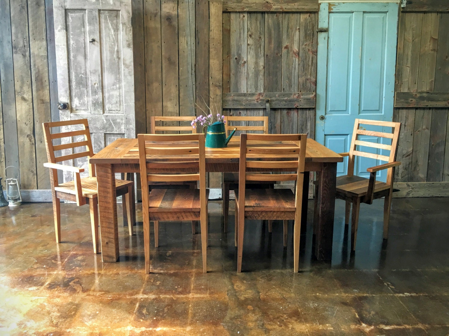 Farmhouse Dining Table and Chairs Set Dining Room Set