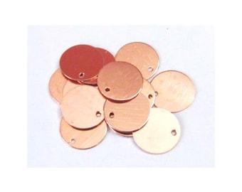 11/16 copper Blanks//22G Blanks//Metal blanks/ Hand Stamping Supplies// locket blanks//locket plates