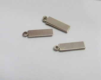 Mini Nickel silver Rectangle blanks - earring blanks - tag blanks - hand stamping blanks -  Stamping Supplies - stamping blanks - blanks