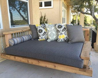 Porch Swing Bed - Chaise Lounge Chair - Day bed swing - Outdoor furniture - Southern Porch Swing - Hanging Bed - Luxury Furniture