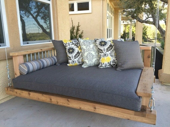 love this porch swing bed