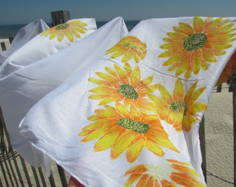 """Hand painted scarf """"SUNflower"""""""