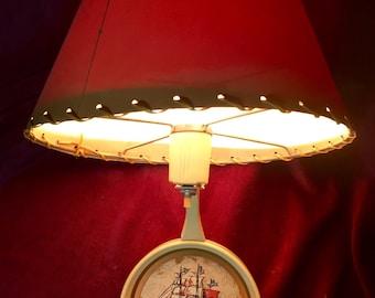 Vintage Lamp - Wall Hanging - Nautical