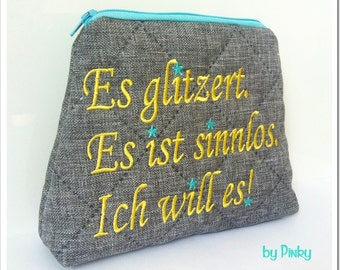 Cosmetic bag * it sparkles, it's pointless, I want it *.