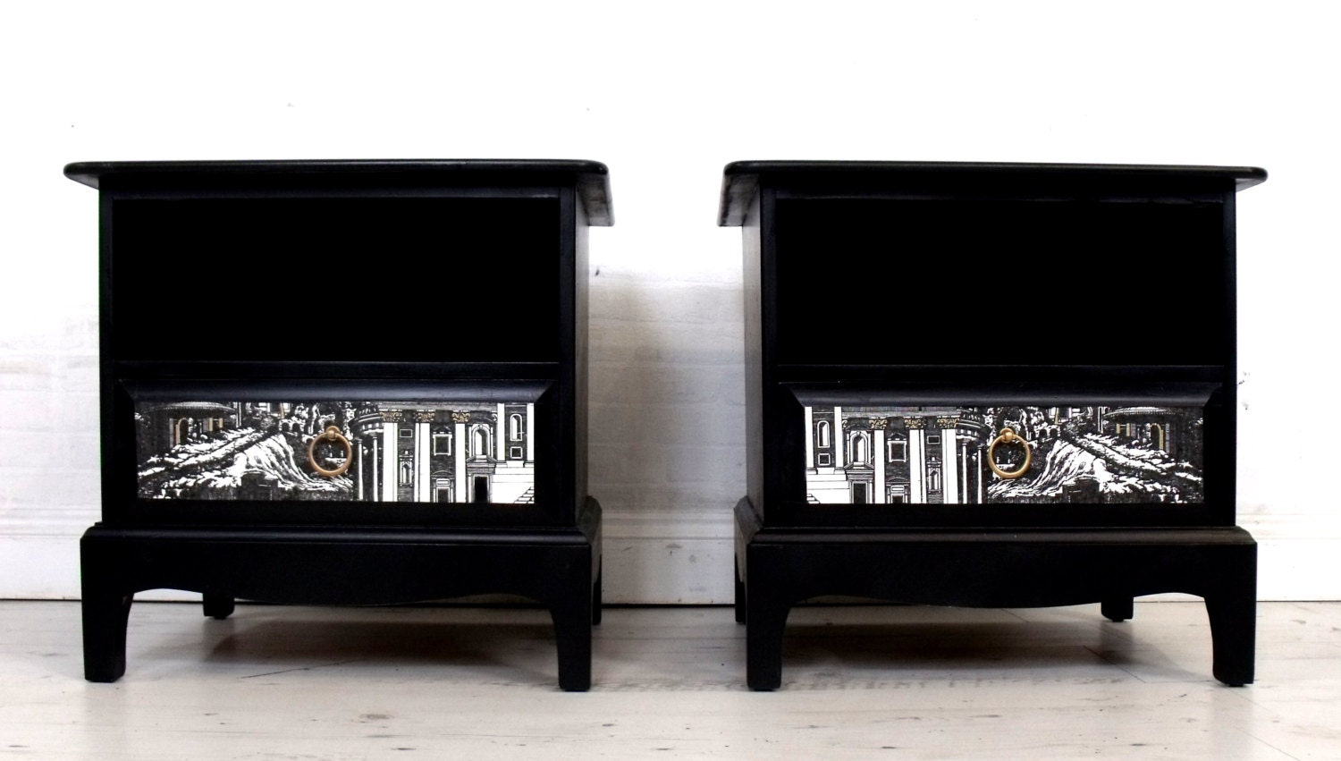 Stunning Upcycled Mid Century Stag Bedside Tables Cabinets