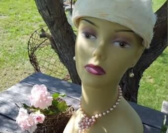 Feathered White Vintage Headpiece