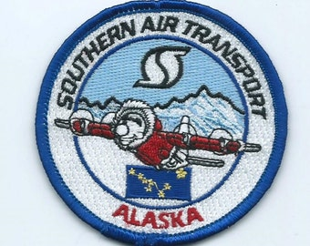 Southern Air Transport SAT (Alaska) patch 3 in dia Miami FL CIA operated airline #659