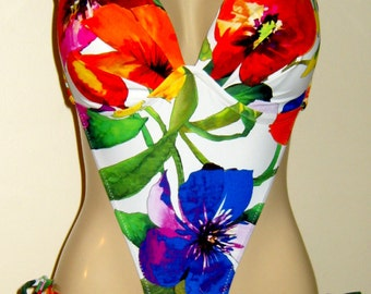 Push Up Underwire Monokini with Tie Sides