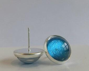 Ocean Blue Post Earrings