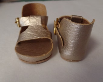 "Gold - Platform  Sandals-- for 18"" Dolls--Shown on my American Girl Doll"