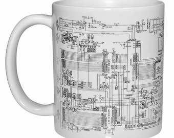 Computer Circuit Diagram Programmer Coffee or Tea Mug