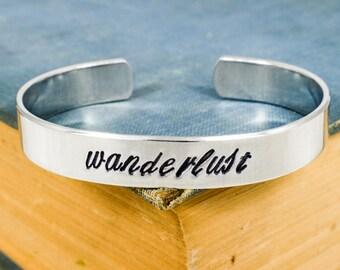 Wanderlust Script Bracelet