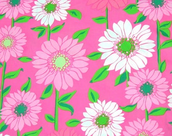 "18"" x 18"" Lilly Pulitzer Cotton Poplin Fabric Pink Cabana Floral"