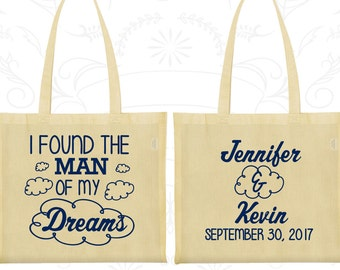 I found the man of my dreams, Promotional Party Bags, Clouds Bags, Wedding Tote (257)